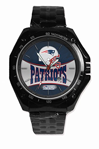Custom Nfl New England Patriot Team Logo Snap On Black Watch Stainless - Steel Fit Your Hoodie