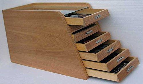 Hunting, Folding, Pocket Knife Storage Display Case Cabinet, Wood, KC01-NAT