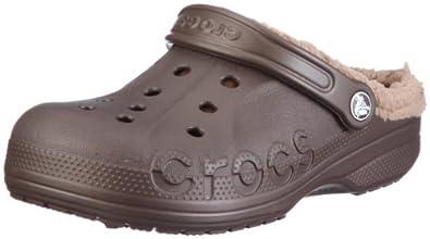 Crocs Baya Lined, Unisex-Adults' Clogs, Espresso/Khaki, 10 UK (M)/11 UK (W)