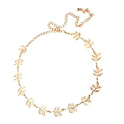 Imported Ladies Leaf Shape Waist Chain Belt in Gold