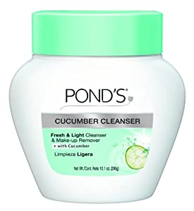 Pond's Deep Cleanser & Make-Up Remover with Cucumber Extract, 10.1-Ounce Jars (Pack of 3)