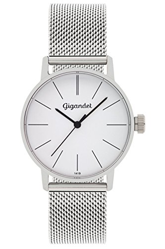 Gigandet Reloj Mujer Minimalism Correa de Acero Plata G43-005