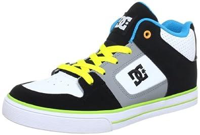 DC Kids Radar Skate Shoe (Toddler/Little Kid/Big Kid),Black/White/Yellow,3.5 W US Big Kid