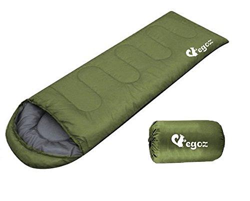Peanut da EGOZ Facile da trasportare Sacco a pelo caldo adulto all'aperto sportivo campeggio Escursioni con Carry Bag (Army Green)