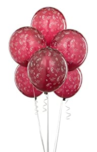 Burgundy with Bandana Print Balloons (6)