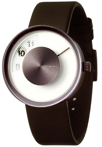 Issey Miyake Unisex Vue Watch IM-SILAV005 With Brown Leather Strap