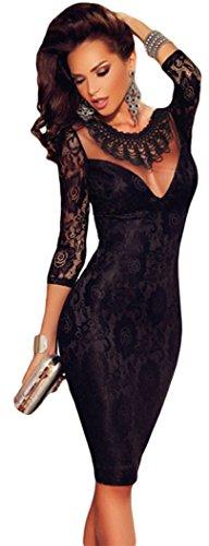 bestime-black-lace-embroidered-necklace-evening-dresssizel