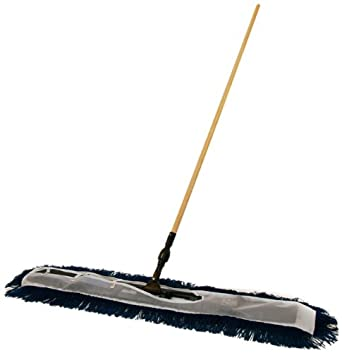 Fas-Trak FT-FM-48-Kit Flop-Mop 48-Inch High Performance Folding Dust Mop Kit, Includes Frame / Adapter, Blue Mop Head and Handle