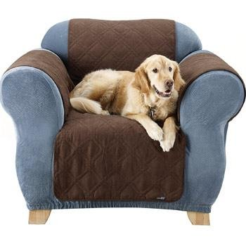 Sure Fit Quilted Suede Chair Pet Throw, Chocolate front-675359