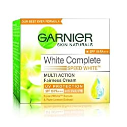 Garnier Skin Naturals White Complete Multi Action Fairness Cream SPF 19 PA+++ (40g) (Pack of 2)
