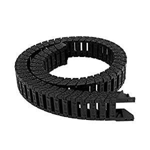 20mm x 35mm Black Plastic Towline Cable Carrier Drag Chain Connector