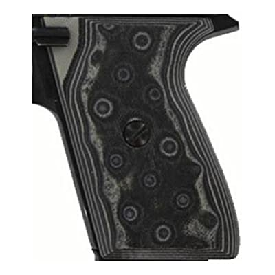 Hogue CZ-75/CZ-85 Grips (G-10 G-Mascus), Black/Grey