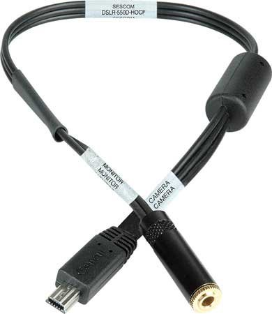 Sescom Dslr-550D-Hocf A/V Out Headphone Monitoring Cable