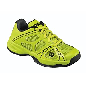 Wilson Junior`s Rush Pro Tennis Shoes 3.5 Green