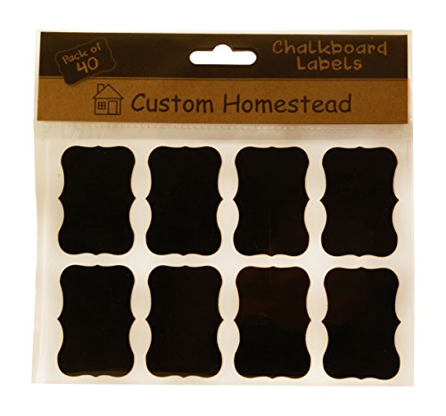 Fancy Rectangle Mini Chalkboard Labels Set of 40 ...