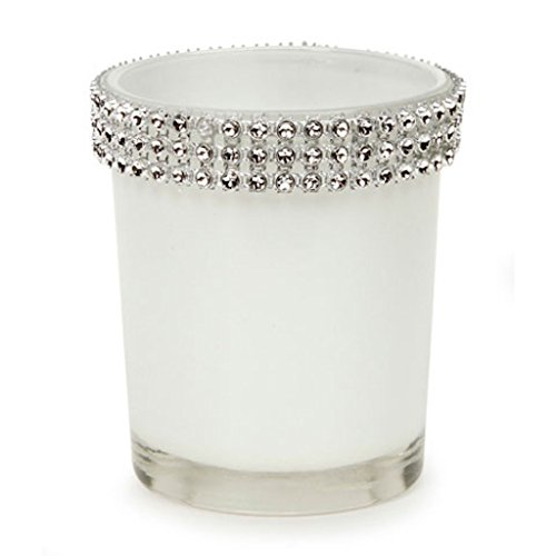 12 David Tutera Wedding Candle Votive Holders White Rhinestone