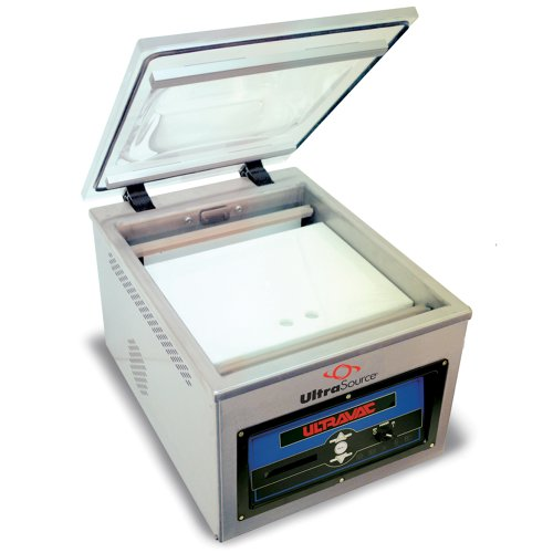 "UltraSource 903306 Commercial/Industrial 250 Vacuum Chamber Machine for Food Sealing, Chamber Size 16.625"" Width x 19.875"" Length x 6.75"" Depth, Stainless Steel"