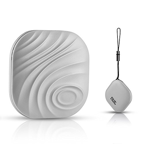 Lauco Mini Bluetooth Smart Tag Nut Find 3, Key Finder Locator, GPS Anti-lost Tracker, Item Finder with Bi-directional Alarm for IOS and Android System (Cherry Grey) (Bluetooth Keychain Locator compare prices)