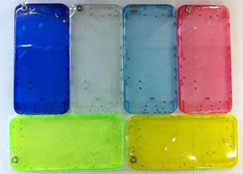 iPhone6 バックフレーム ケース バックパネル スケルトン アイフォン6 4.7インチ バックカバー カスタム 交換パーツ (クリア)