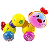 WolVol Press And Crawl Inchworm Baby Toy With Lights And Music (Batteries Included)