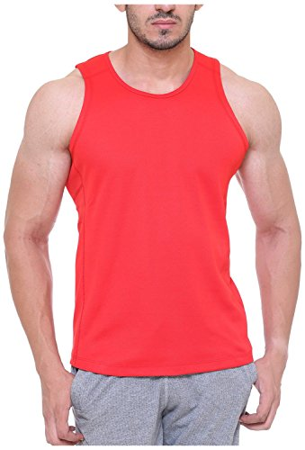 Free Runner Men's Mesh Vest (SB1310-XL, Red, X-Large)