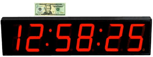 """Large Digital Wall Clock - Digital 5"""" Led Count Down/Up/Interval Timer/Stopwatch Remote Control"""