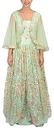 Simple Kaur Women's A-Line Dress (simplekaur_0007--s, Green, Small)