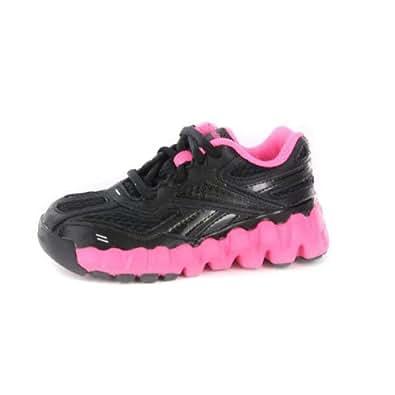 amazoncom girls reebok minizig black hot pink sneakers