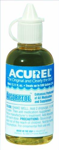 Imagen de Acurel LLC Absorptol 50-ml, acuario y tratamiento de agua de estanque, trata 500 galones
