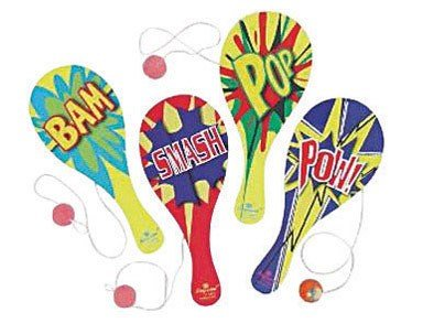 Imperial Toy 07972 Fun In The SunTM Wacky Paddle Ball Assorted Designs - 1