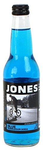 Jones Soda Bubblegum Cane Sugar Soda, Blue by Jones Soda (Bubblegum Jones Soda compare prices)