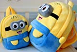 Despicable Me Smile Minions Backpack Children Schoolbag (Variety Choices) (Two-eye, 35*28*10cm)