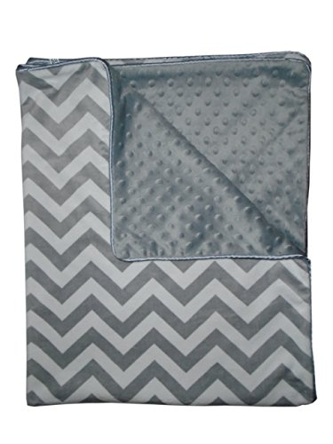 Baby Doll Minky Chevron Crib Comforter, Grey
