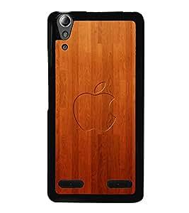 printtech Wooden Apple Back Case Cover for Lenovo A6000