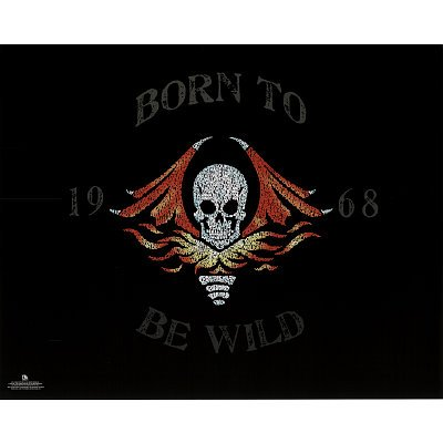 Professionally Framed Steppenwolf (Born to be Wild Lyrics) Music Poster - 16x20 with RichAndFramous Black Wood Frame