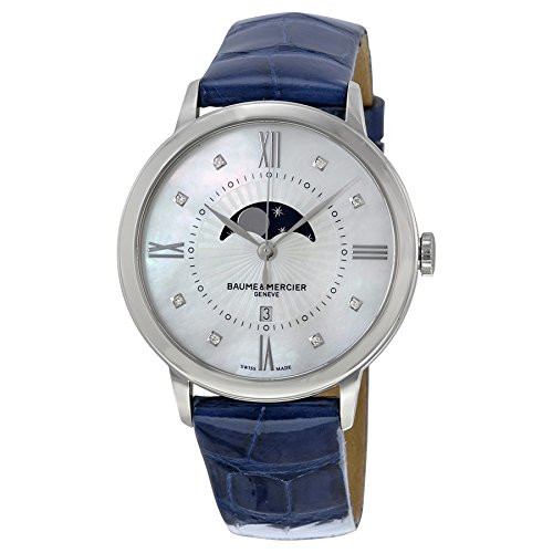 baume-and-mercier-classima-mother-of-pearl-dial-blue-leather-ladies-watch-10226