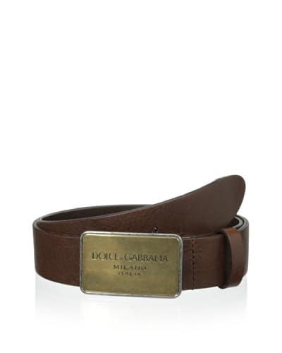 Dolce & Gabbana Men's Oversized Buckle Belt