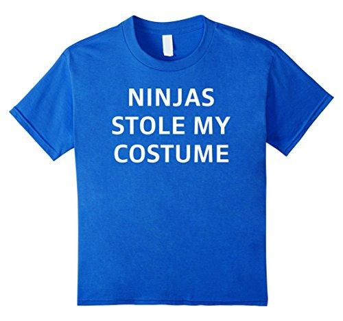 [Kids Ninjas Stole My Costume Halloween Simple Costume T-Shirt Tee 12 Royal Blue] (Procrastinator Halloween Costumes)