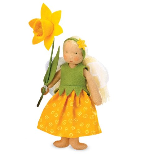 Kathe Kruse Handcrafed Spring Flower Fairy Made In Germany, In Daffodil front-563747
