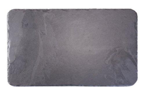 Platos individuales Slate fuente rectangular 50 x 30 cm/tabla de cortar queso, negro