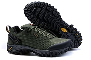 2014 New Mele Merrell Hiking Shoes Waterproof Outdoor Hiking Shoes Sneakers-567347 (10, army green)