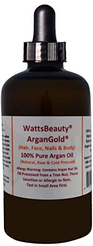 Watts Beauty ArganGoldTM 1oz/100% Certified Organic Cold Pressed Argan Nut Oil for Hair & Body - Morocco