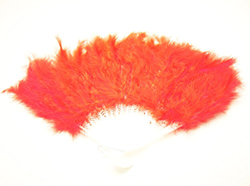 Not dance like that! Gorgeous feather fan fashion fan bag live concert events in the up draft (red)