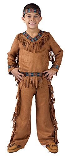 Boys American Indian Boy Kids Child Fancy Dress Party Halloween Costume