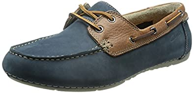 Clarks Men\'s Leather Sneakers at amazon