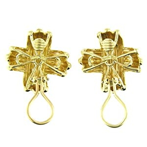 18 Kt Yellow Gold Tiffany & Co Clip on Earrings