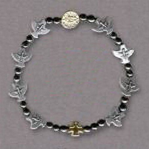 Confirmation Bracelet - Round Beads and Doves - IMPORTED FROM ITALY