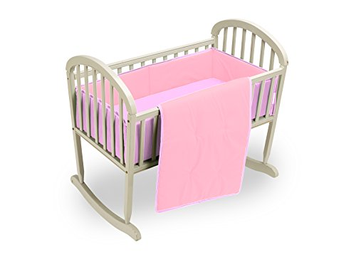 Baby Doll Reversible Cradle Bedding, Pink/Lavender