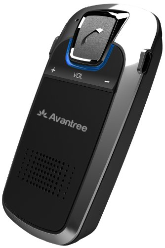 Avantree Solar Powered Bluetooth Handsfree Speakerphone Car Kit With Echo And Noise Cancellation, Multipoint (Black)