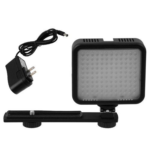 Fotodiox 10-LED-120 Fotodiox Pro LED-120, Professional LED Light for Hot Shoe Mount Video Camera/Camcorder with Built-in Rechargeable battery and Bracket, CRI > 95 – Black image